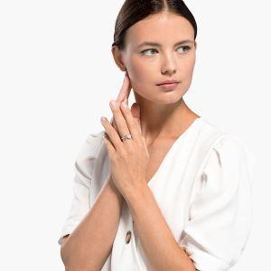 Swarovski Attract Soul Ring, Pink, Rhodium Plating 5535310 - 5514541- 5535260