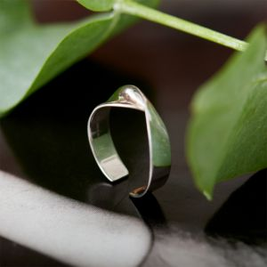Ania Haie Helix Adjustable Ring Silver