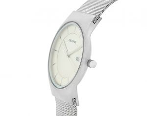 Bering Mens 'Classic' Brushed Silver Milanese Watch