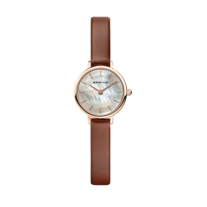 Bering Ladies Polished Gold Tone Classic Watch  