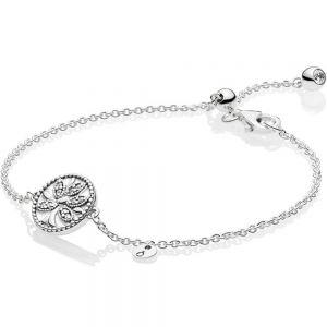 Pandora Sparkling Family Tree Slider Bracelet-597776cz-16, 597776cz-18, 597776cz-20