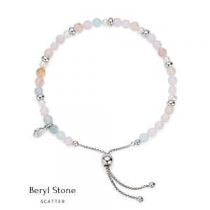 Jersey Pearl Sky Bracelet - Scatter Style in Beryl and Silver 1827927