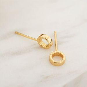 Ania Haie Open Circle Stud Earrings Gold