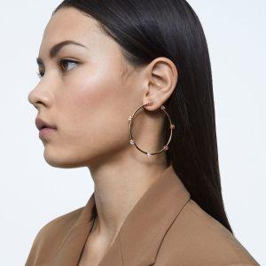 Swarovski Constella Hoop Earrings - Rose Gold Tone Plated 5609706
