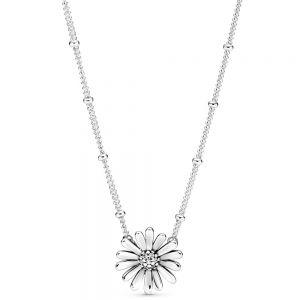Pavé Daisy Flower Collier Necklace - 398964c01