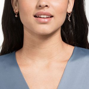 Swarovski Penélope  Cruz Moonsun Drop Earrings, White, Rose Gold Plating