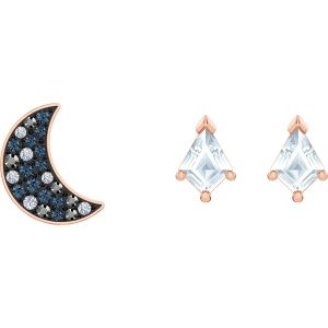 Swarovski Symbolic Pierced Earrings Set, Multi-Coloured, Rose Gold Plating