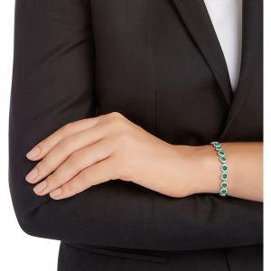 Swarovski Angelic Bracelet, Green, Rhodium Plating 5237769