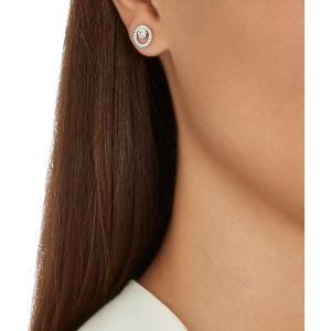 Swarovski Creativity Circle Pierced Earrings, Small, White, Rhodium Plating 5201707