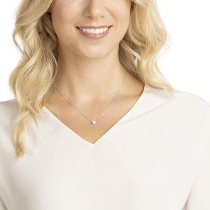 Swarovski Attract Round Necklace, White, Rhodium Plating 5408442