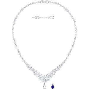 Swarovski Louison Necklace, Large, Rhodium Plating