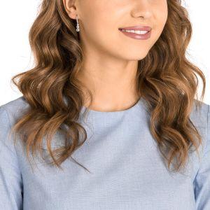 Swarovski Attract Trilogy Round Pierced Earrings, White, Rhodium Plating 5416155