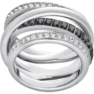 Swarovski Dynamic Ring, Grey, Rhodium Plating