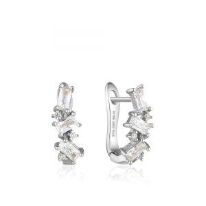 Ania Haie Glow Cluster Huggie Earrings - Silver E018-03H