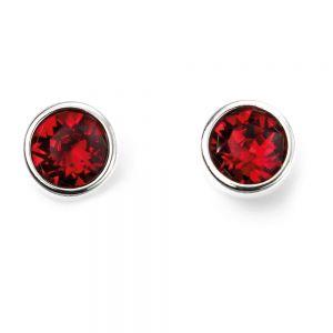 July Birthstone Earrings - Sterling Silver