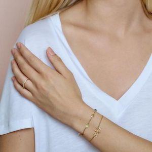 byBiehl Together Family 3 Gold Bracelet