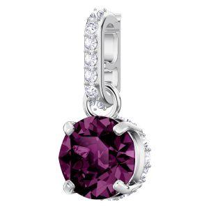Swarovski Remix Collection Charm, February, Purple, Rhodium Plating 5437323