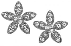 byBiehl Forget Me Not Sparkles Silver Earrings 4-004A-R