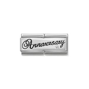 Nomination Classic Double Link Anniversary Charm - Silver - 330730/03