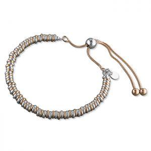 Slider Link Bracelet - Sterling Silver and Rose Gold