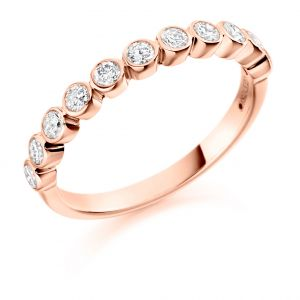 Raphael Collection Half Eternity Ring - Round Brilliant Rubover Setting