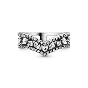 Pandora Sparkling Marquise Double Wishbone Ring-199095C01