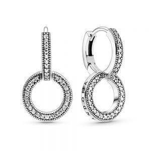 Pandora Sparkling Double Hoop Earrings 299052C01