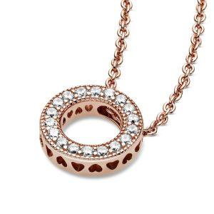 Pandora Logo Pavé Circle Collier Necklace 387436C01