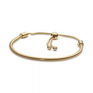 Pandora Moments Snake Chain Sliding Shine Bracelet 568640c01-2