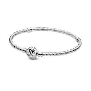 Pandora Moments Heart Infinity Clasp Snake Chain Bracelet 599365C00