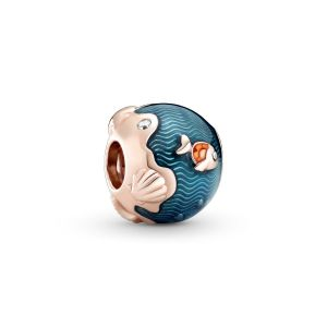 Pandora Shimmering Ocean Waves and Fish Charm – 14K Rose gold-plated