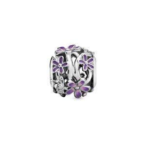 Pandora Openwork Purple Daisy Charm - 798772C02