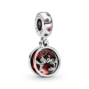 Pandora Disney Mickey Mouse & Minnie Mouse Love and Kisses Dangle Charm-799298C01