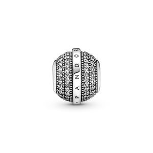 Pandora Pavé and Logo Charm - 799489C01