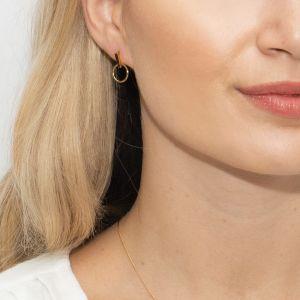 Sarah Alexander Infatuation Gold Vermeil Circle Stud Earrings