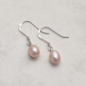 Jersey Pearl Circle Pearl Earrings 12-1595024