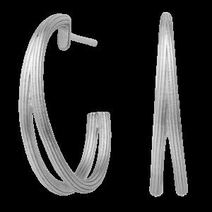 byBiehl Isla Duo Medium Hoop Silver 4-022-R