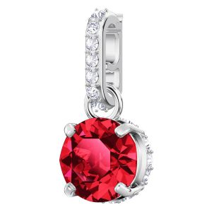 Swarovski Remix Collection Charm, January, Red, Rhodium Plating