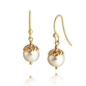 Jersey Pearl Emma-Kate Drop Earrings, Silver