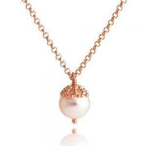 Jersey Pearl Emma-Kate Pendant, Rose-Gold