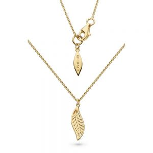 Kit Heath Blossom Eden Mini Leaf Gold Plate Necklace 90245GD027