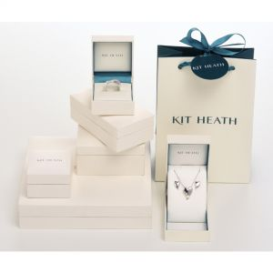 Desire Kiss Rhodium Plate Linking Heart Toggle Bracelet