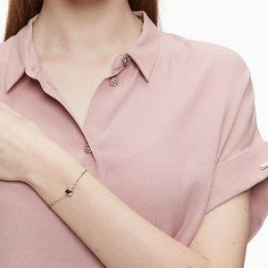 Calvin Klein Silver Tone Side Slider Bracelet KJ5QMB000300