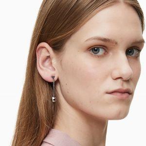 Calvin Klein Silver Tone Side Drop Earrings