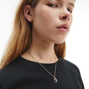 Calvin Klein Gold Tone Statement Necklace