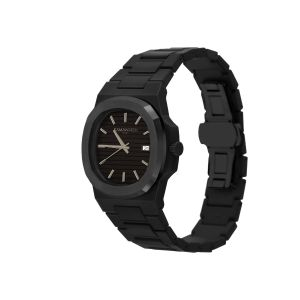Kamawatch Vintage Dynamo Watch - Black and Dark Green Camouflage