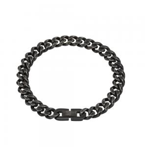 Unique and Co Men's Steel Bracelet, Antique Black Plated