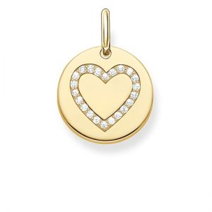 Thomas Sabo Heart Disc Pendant - Gold