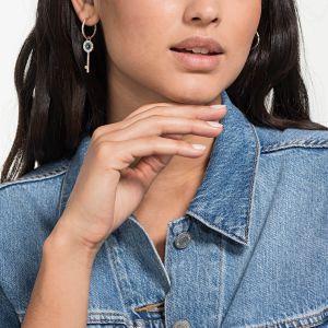 Swarovski Symbolic Pierced Earrings, Mini Hoop, Rose Gold Plating