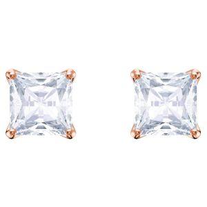 Swarovski Attract Pierced Earrings, White, Rose Gold Plating 5431895